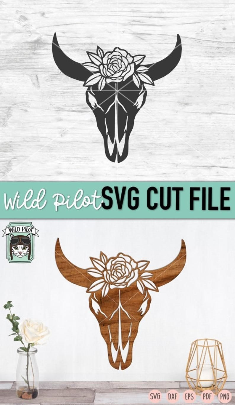 Cow Skull With Flowers Svg File Cow Skull Svg File Cow Skull Etsy In 2020 Cow Skull How To Draw Hands Svg