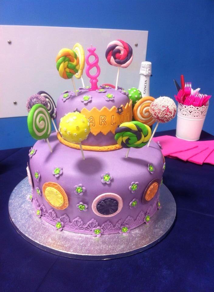 Torta compleanno in pdz con crema al cioccolato