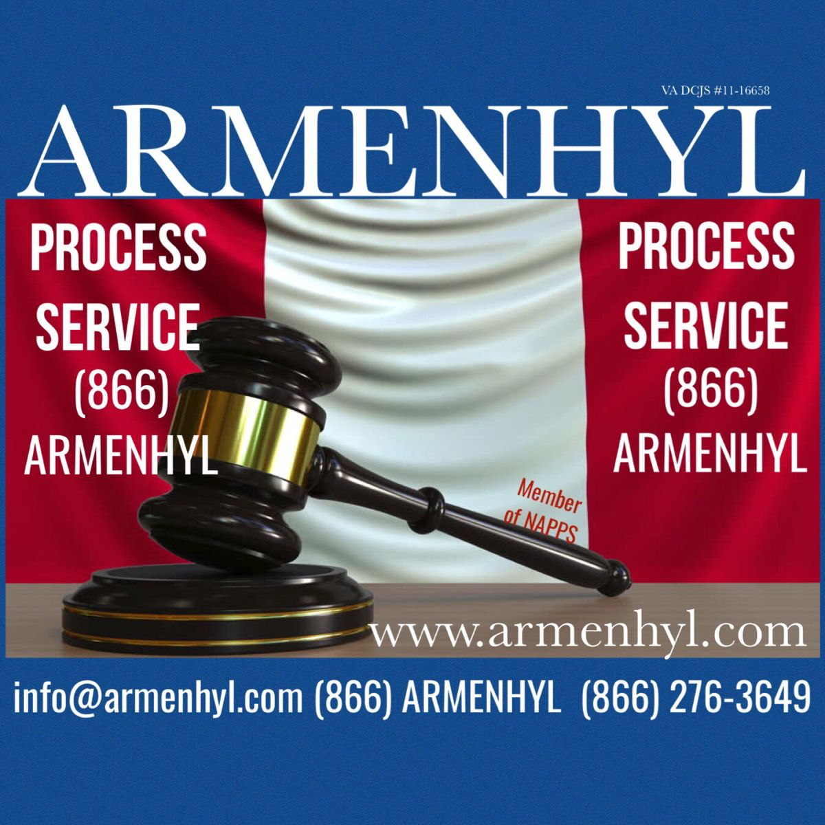 Armenhyl nationwide process service 866 armenhyl 866