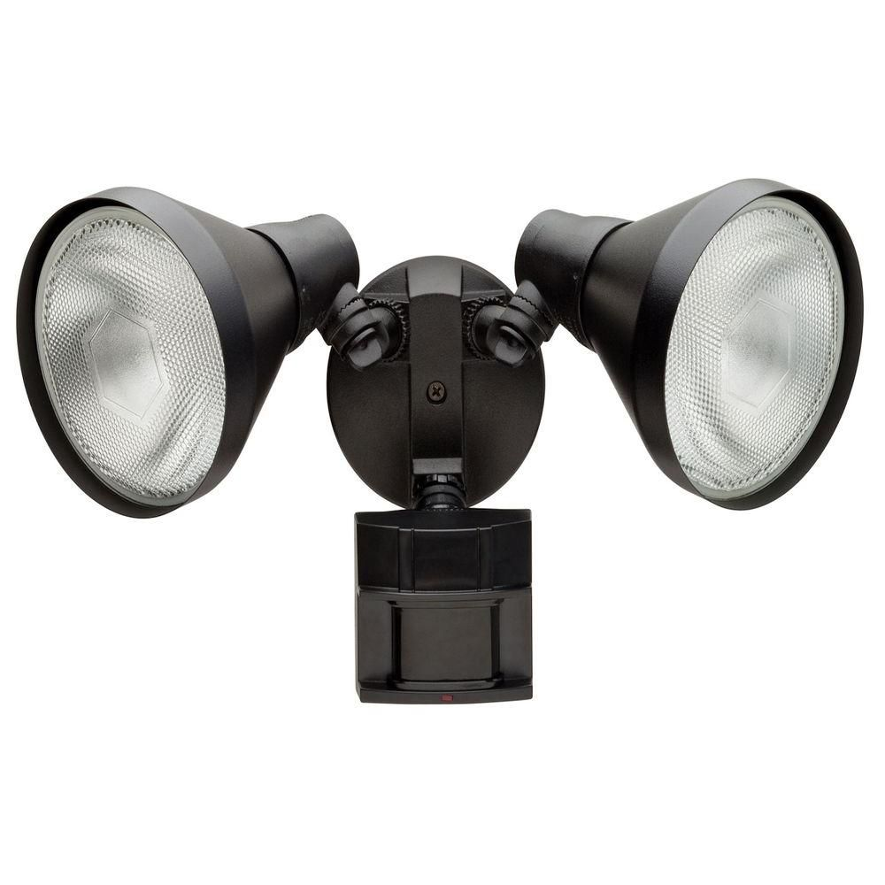 Defiant 110 Degree Black Motion Activated Outdoor FloodLight ...