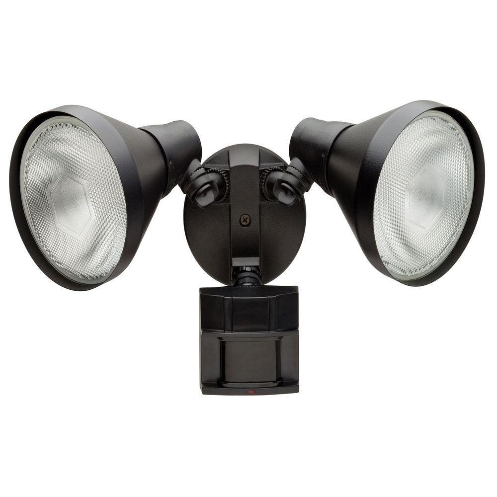 Defiant 180 Degree Black Motion Sensing Outdoor Security Light Df