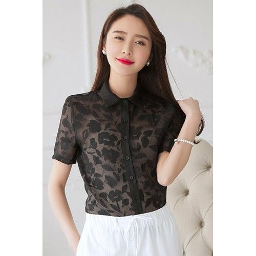 Printed Chiffon Shirt #office #wear #fashion #clothing #fashionaffair