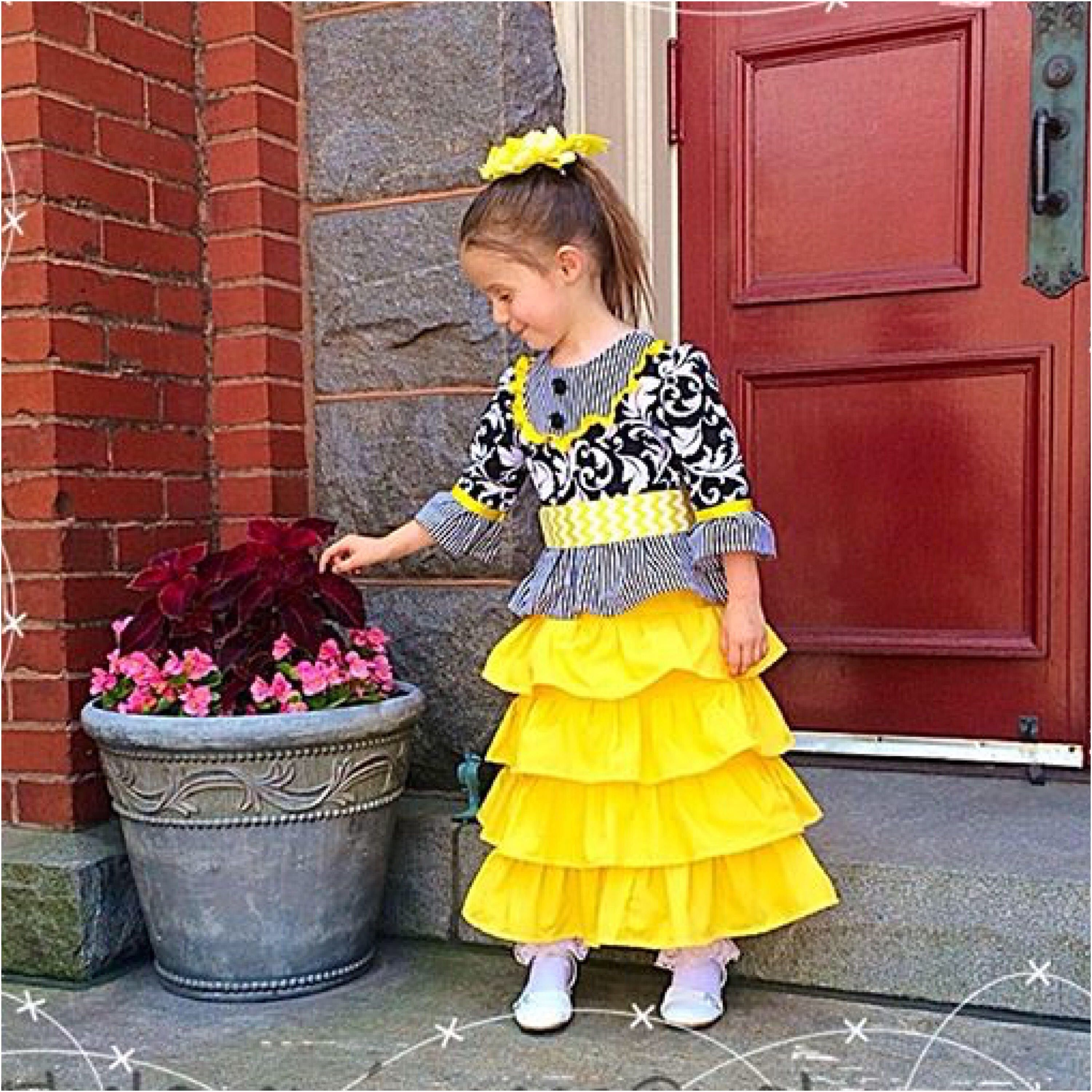 Girls Bright Cheery Yellow Easter Dresses. Repin to Your Beautiful