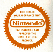 Nintendo Seal Of Quality Nintendo Seal Videogames