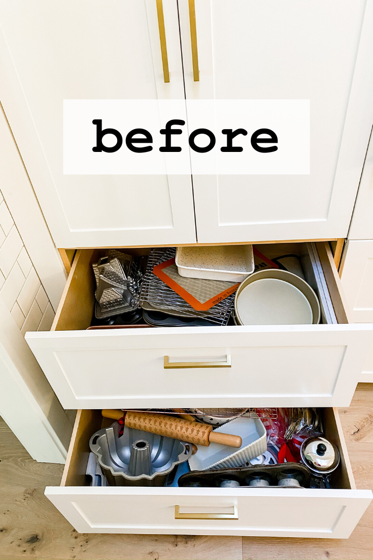 How To Organize Kitchen Drawers Modern Glam Interiors In 2020 Kitchen Drawer Organization Deep Drawer Organization Utensil Drawer Organization