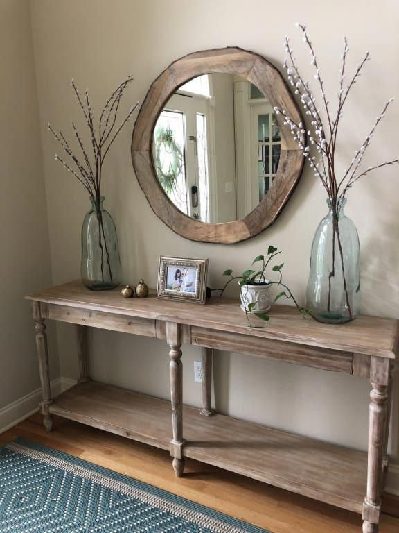 Everett Foyer Table: Natural - Wood by World Market #entrywayideas