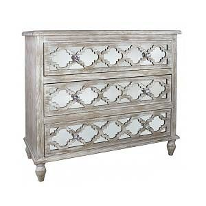 Mica Home Long Island Beach Washed Ash Bedroom Furniture 3 Drawer Chest