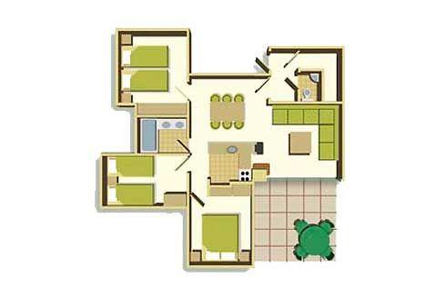 Three Bedroom Floorplan Example