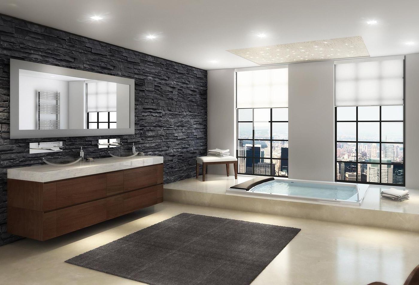 Open Modern Master Bedroom And Bathroom Designs Indoor Plant On Pots Bedroom Bathr Modern Master Bathroom Modern Master Bathroom Remodel Modern Luxury Bathroom