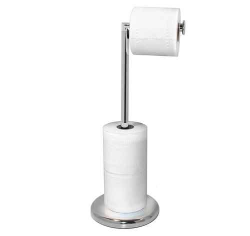 Chromed Freestanding Loo Roll Store Amp Stand Bathrooms