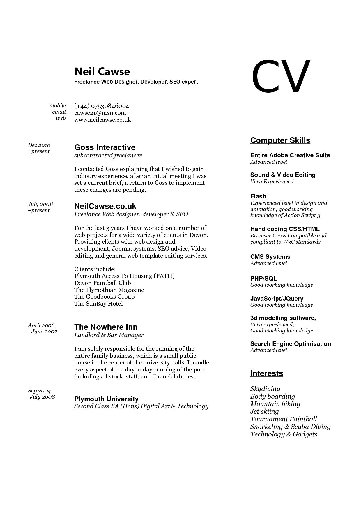 Skills Resume Computer Put Example Good For Retail