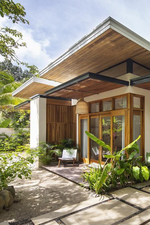 Villa Akoya A Luxury Beachfront Surf Villa On Playa Santa Teresa Tropical House Design Beach House Design Bali House