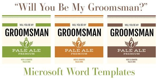 Free Microsoft Word Templates For Beer Bottles Label Template