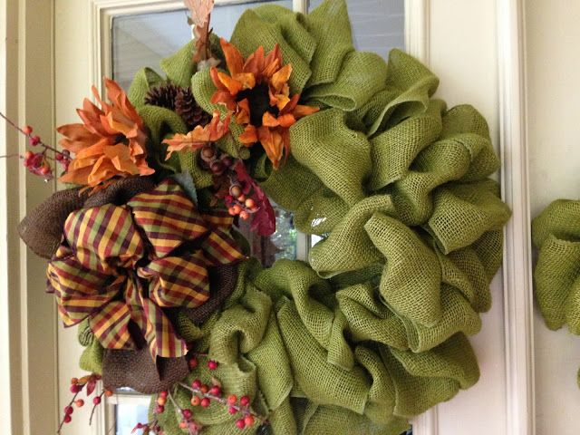 Love this new burlap wreath from Created Twists!