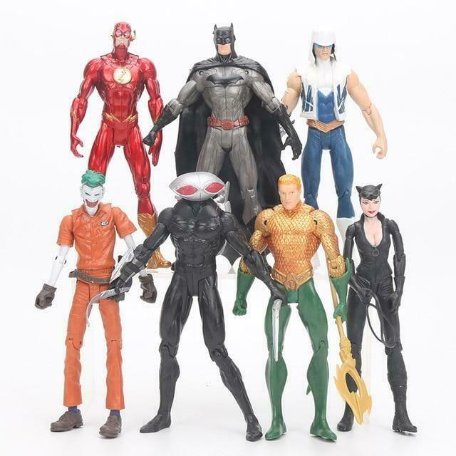 7pcs DC Justice League Black Manta Batman Catwoman Flash Aquaman Joker Figure