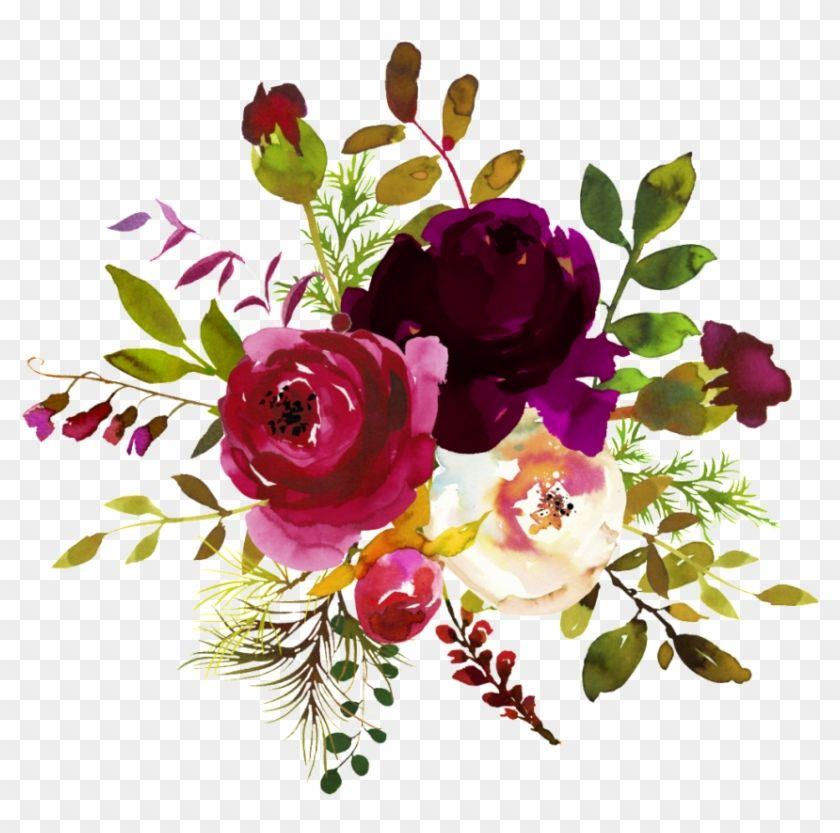 Find Hd Free Png Burgundy Watercolor Flower Corner Borders Burgundy Watercolor Flowers Png In 2021 Free Watercolor Flowers Watercolor Flower Vector Flower Png Images