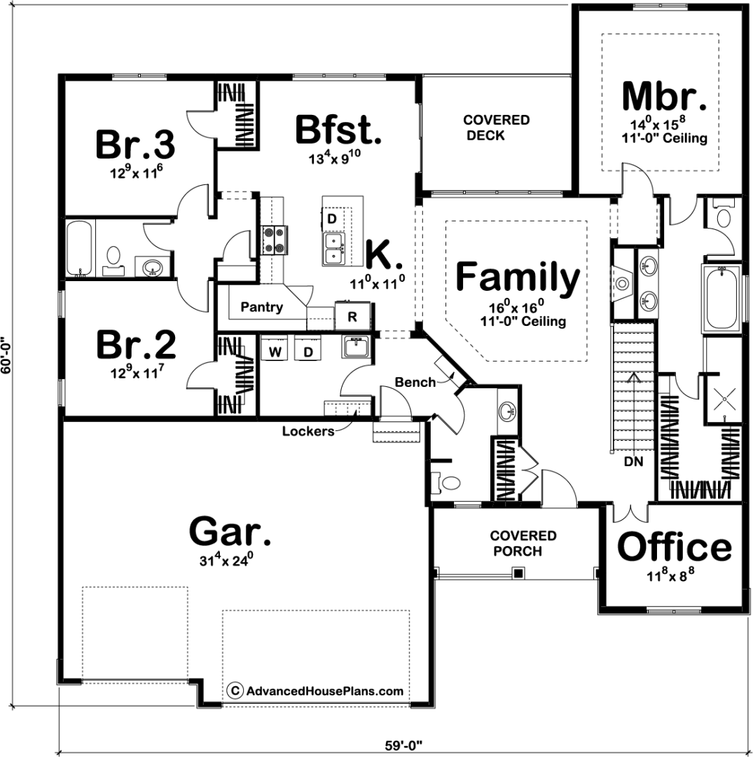 1 Story Craftsman House Plan Sellhorst Modern House Plans Open Floor House Plans How To Plan