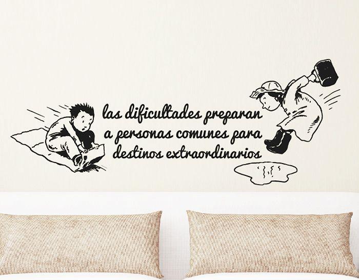 Frases y textos divertidos en vinilo ideas para el hogar - Vinilos con textos ...