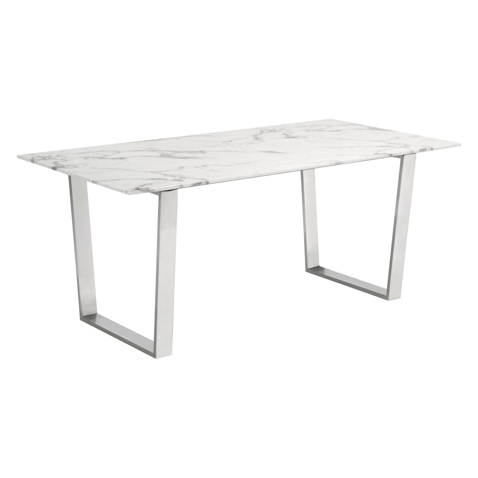 Zuo Modern Contemporary Atlas Stone Dining Table Stone Dining Table Marble Dining Stainless Steel Dining Table