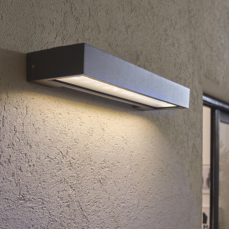 Applique Solaire Ipanema 450 Lm Noir Inspire Leroy Merlin Luminaire Solaire Eclairage Solaire Solaire