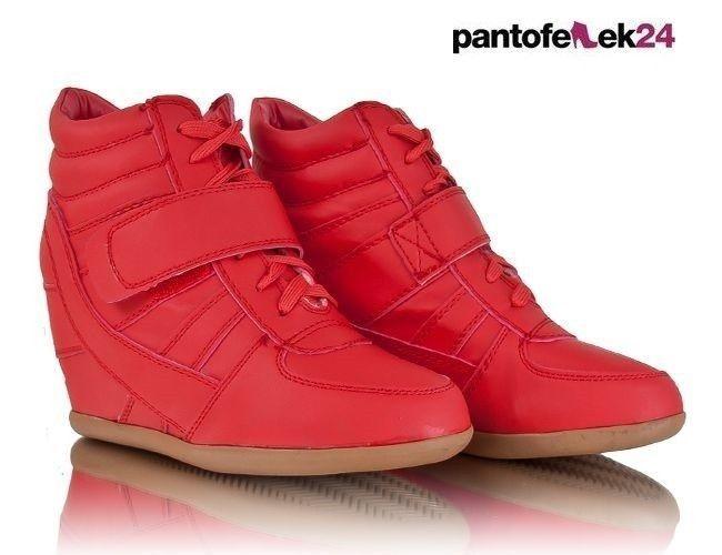 Wyprzedaz Sneakersy Botki Eko Skora Ka80 Tp9x 5 1 Red Red Sneakers Sneakers Perfect Shoes