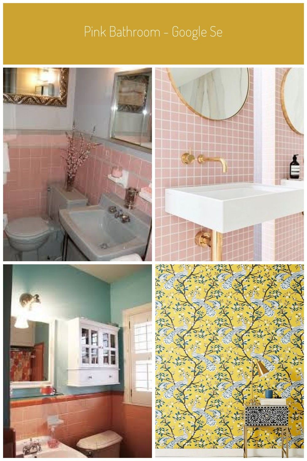 Pink Bathroom Google Search Bathroom Google Pink Search Badezimmer Rosa Fliesen In 2020 Pink Bathroom Bathroom Bathroom Wallpaper