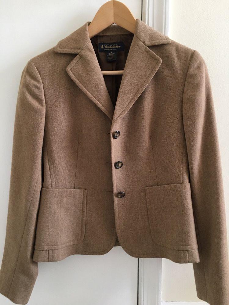 9557374fd3 Brooks Brothers Tan Brown Wool 3 Button 2 Pocket Blazer Sz 2 Womens   fashion  clothing  shoes  accessories  womensclothing  coatsjacketsvests  (ebay link)
