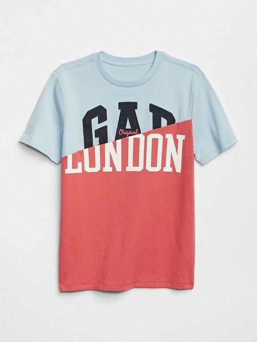 fe72d386b0e Gap Boys Logo Remix T-Shirt Sail Blue
