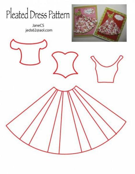knutselen - Voorbeeld om een jurkje van papier te maken   Cards ...