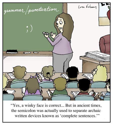 Image result for semi-colon humor