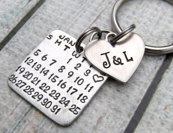 Personalized KeyChain - Personalized Calendar - Save the