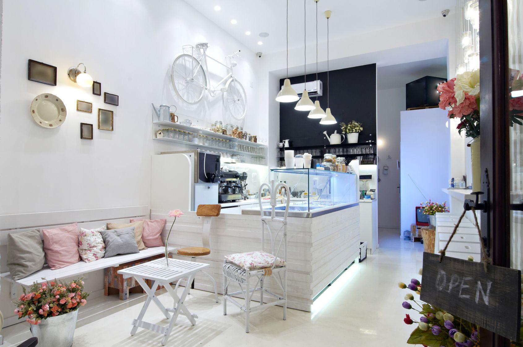 Ideas de cafeteria estilo vintage color rosa blanco - Ideas interiorismo ...