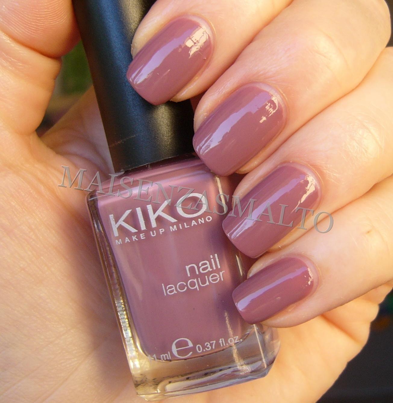 NOTD: Kiko 318 Malva chiaro [Pink Wednesday] | Esmalte, Manicuras y ...