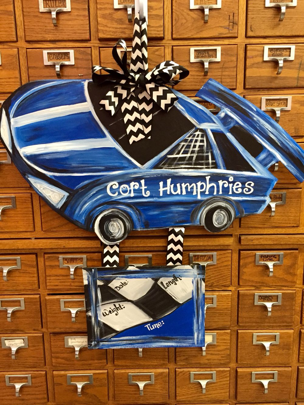 Race car Hospital door hanger | My paintings! ooh-la-la-lah ...