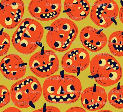 Pumpkin Pumpkin Halloween Thanksgiving Pumpkin Fabric Printed by Spoonflower BTY