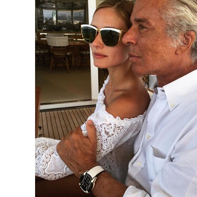Olivia Palermo and Giancarlo Giammetti in Ibiza on July 30, 2015 So incredibly fabulous.