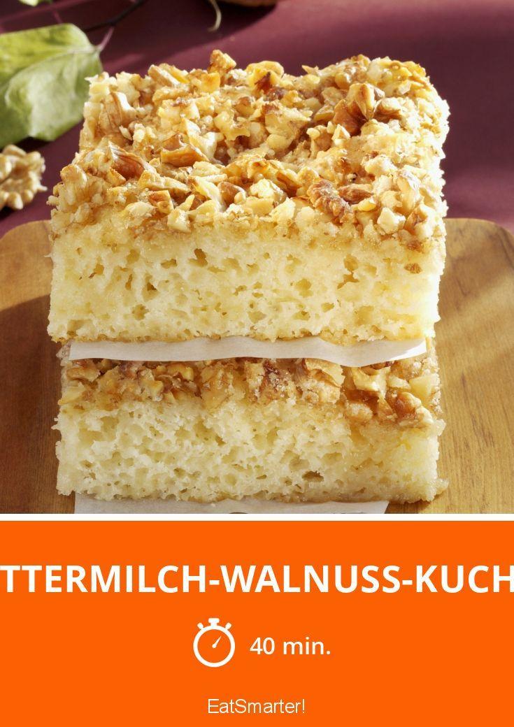 Buttermilch-Walnuss-Kuchen | Rezept | Süßes | No bake cake ...