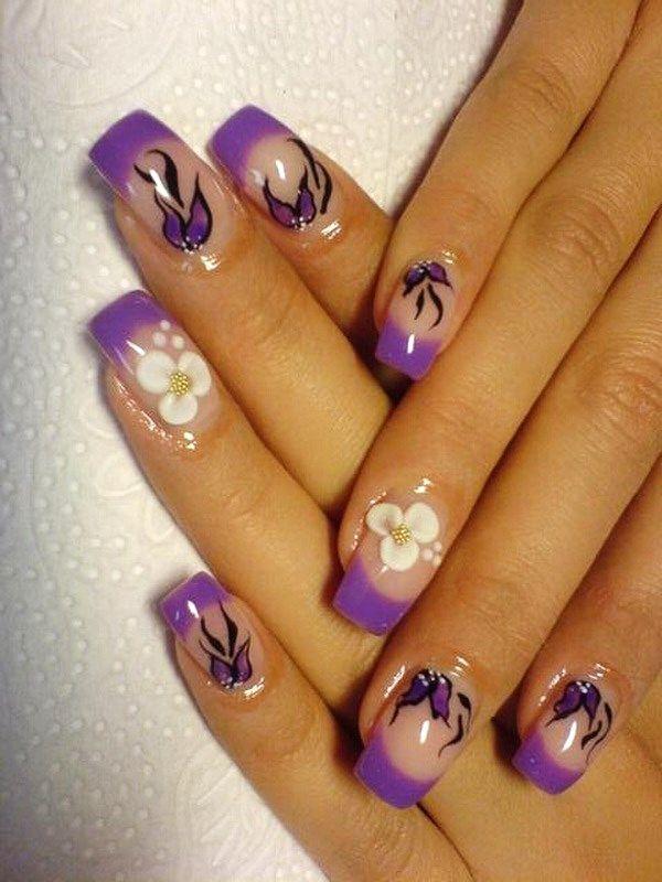 Easy Purple Nail Design Ideas | christmas tree decorations ...