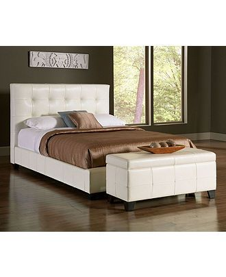 Hawthorne Bedroom Furniture Collection, White Leather - Bedroom Furniture - furniture - Macy's.  Seriously considering buying this!
