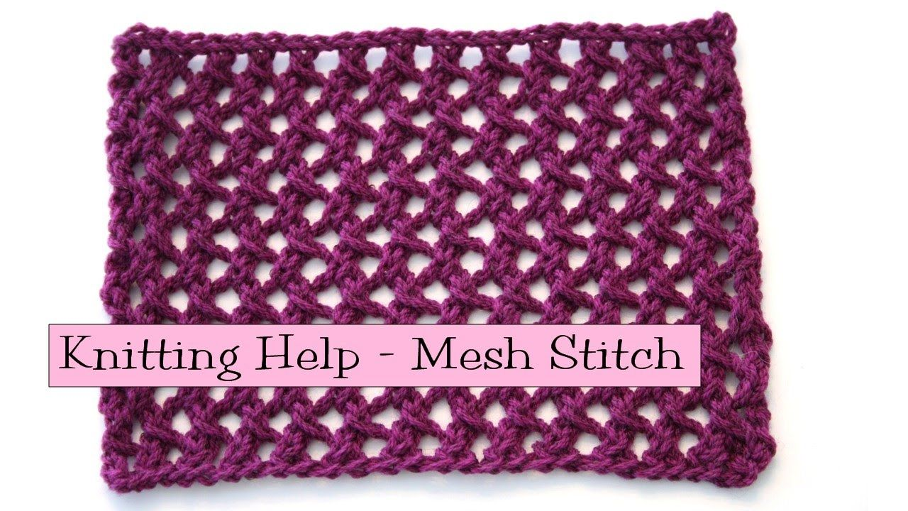 Fancy Stich Combo - Mesh Pattern Stitch | knitting (Or am I