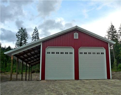 30x40x14 Shop With Lean To 5576 Pole Buildings Garage Door Framing Lean To