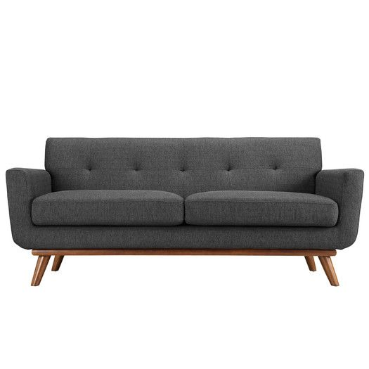 Incredible Corrigan Studio Saginaw Upholstered Loveseat Allmodern Squirreltailoven Fun Painted Chair Ideas Images Squirreltailovenorg