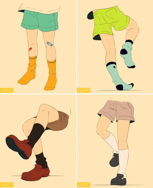 Legs1 1 こども イラスト イラスト 衣服の描き方