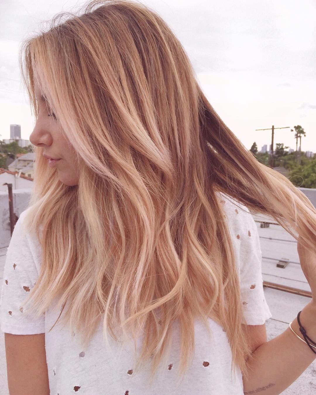 Pink Blonde Hair Color Hair Pinterest Cabelo Cabelo Bonito E