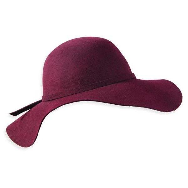 Wholesale Lady s Burgundy Wool Felt Floppy Hat ( 88) ❤ liked on Polyvore 6324daae626e