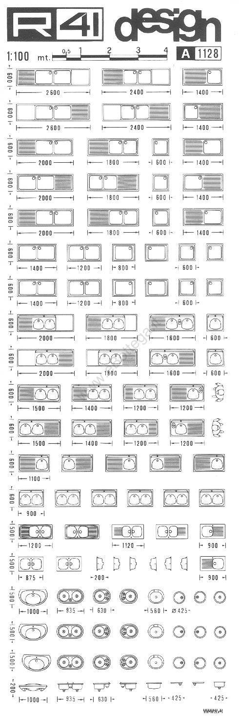 trasferibilir41 Cucine, 1:100, NERO. Trasferelli-Trasferibili R41 in ...