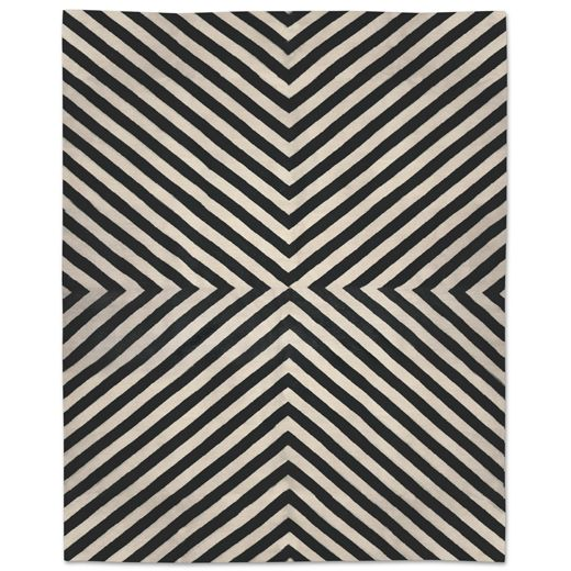 Jonathan Adler Black Bridget Kilim Rug 8x10 In All New