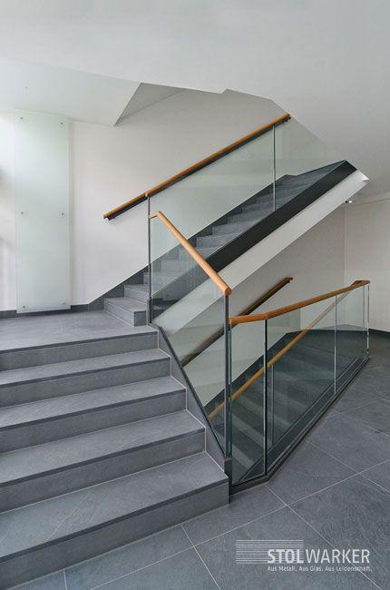 Glasgeländer Treppe treppe und glasgeländer mit holzhandlauf treppen glasgeländer