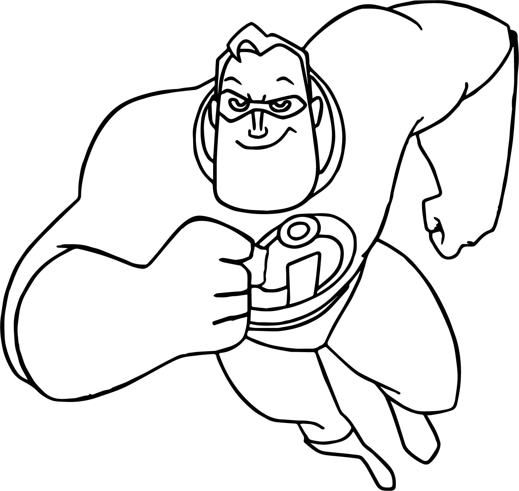 Cool The Incredibles Running Man Coloring Pages Disney Coloring