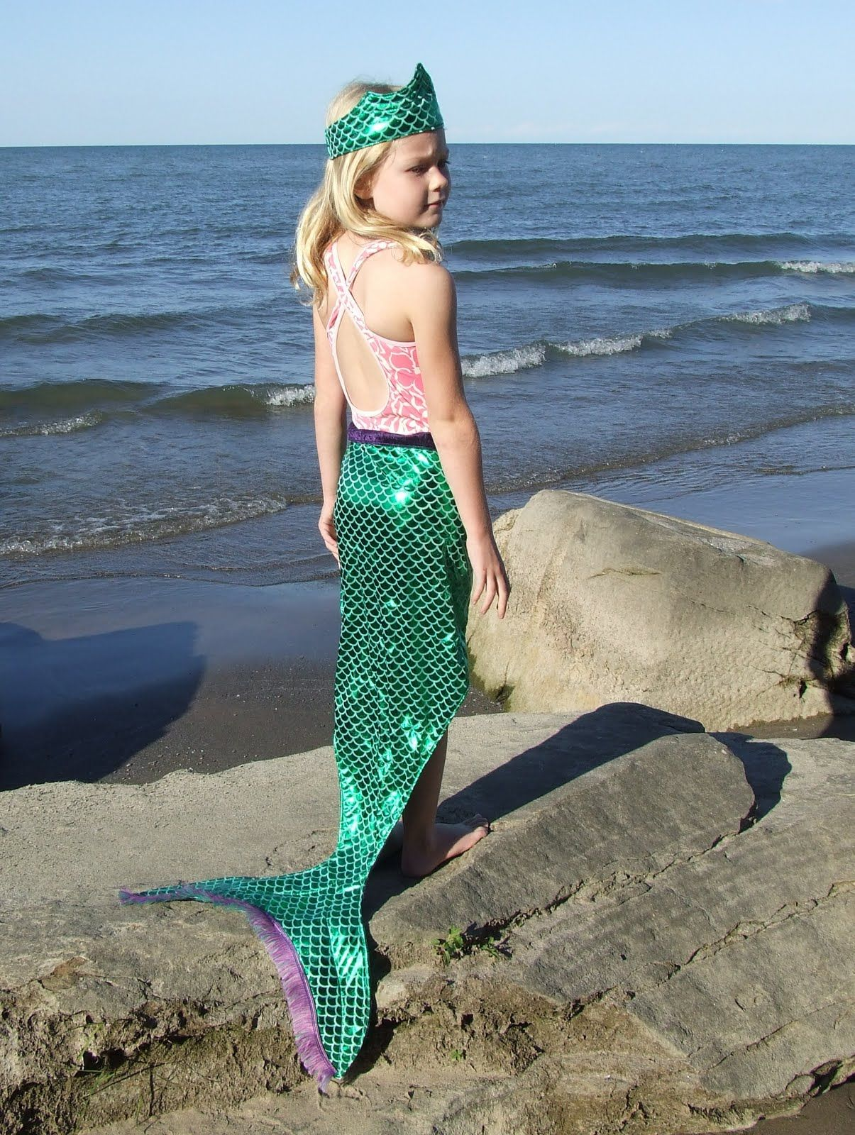 adorable homemade mermaid costume this would be great for pretend